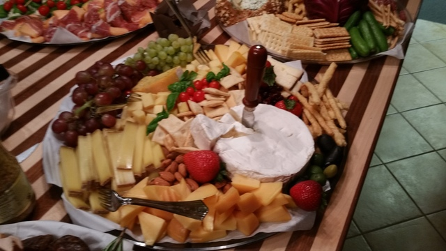 Catering for Wine and Cheese Event