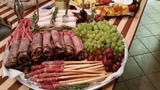 <p>Fresh Roasted Beef, Bread Sticks with Prosciutto and more</p>